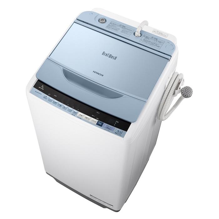 縦型洗濯機 HITACHI 日立洗濯機 7kg BW-V70B BWV70B/ 日立全自動洗濯機 日立 ビートウォッシュ 【日立 洗濯機 ビートウォッシュ】 ブルー 縦型 【設置料無料】 全自動洗濯機
